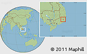 Savanna Style Location Map of Da Lat Town