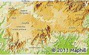 Physical 3D Map of Di Linh