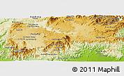 Physical Panoramic Map of Di Linh
