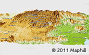 Physical Panoramic Map of Don Duong