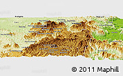 Physical Panoramic Map of Lac Duong