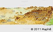 Physical Panoramic Map of Lam Ha