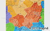 Political Shades Map of Lam Dong
