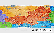 Political Shades Panoramic Map of Lam Dong
