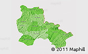 Political Shades 3D Map of Lang Son, cropped outside