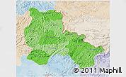 Political Shades 3D Map of Lang Son, lighten