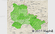 Political Shades 3D Map of Lang Son, shaded relief outside