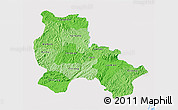 Political Shades 3D Map of Lang Son, single color outside