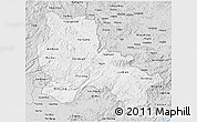 Silver Style 3D Map of Lang Son