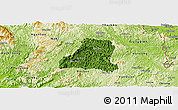 Satellite Panoramic Map of Binh Gia, physical outside