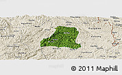 Satellite Panoramic Map of Binh Gia, shaded relief outside