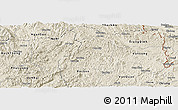 Shaded Relief Panoramic Map of Binh Gia