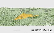 Savanna Style Panoramic Map of Cao Loc