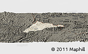 Shaded Relief Panoramic Map of Cao Loc, darken
