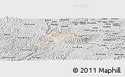 Shaded Relief Panoramic Map of Cao Loc, desaturated