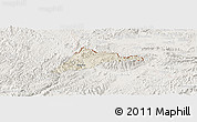 Shaded Relief Panoramic Map of Cao Loc, lighten