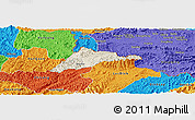 Shaded Relief Panoramic Map of Cao Loc, political outside