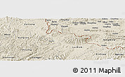 Shaded Relief Panoramic Map of Cao Loc