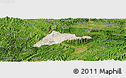 Shaded Relief Panoramic Map of Cao Loc, satellite outside