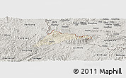 Shaded Relief Panoramic Map of Cao Loc, semi-desaturated