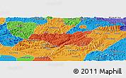 Political Panoramic Map of Chi Lang
