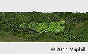 Satellite Panoramic Map of Chi Lang, darken