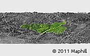 Satellite Panoramic Map of Chi Lang, desaturated