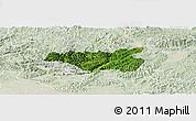 Satellite Panoramic Map of Chi Lang, lighten