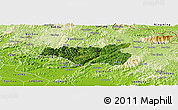 Satellite Panoramic Map of Chi Lang, physical outside