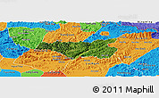 Satellite Panoramic Map of Chi Lang, political outside