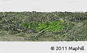 Satellite Panoramic Map of Chi Lang, semi-desaturated