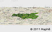 Satellite Panoramic Map of Chi Lang, shaded relief outside