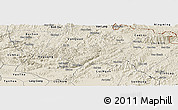 Shaded Relief Panoramic Map of Chi Lang
