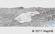 Gray Panoramic Map of Dinh Lap