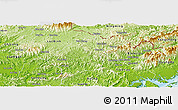 Physical Panoramic Map of Dinh Lap