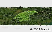 Satellite Panoramic Map of Dinh Lap, darken