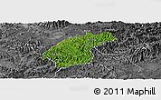 Satellite Panoramic Map of Dinh Lap, desaturated