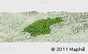 Satellite Panoramic Map of Dinh Lap, lighten