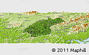Satellite Panoramic Map of Dinh Lap, physical outside