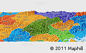 Satellite Panoramic Map of Dinh Lap, political outside