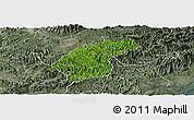 Satellite Panoramic Map of Dinh Lap, semi-desaturated