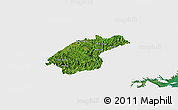 Satellite Panoramic Map of Dinh Lap, single color outside
