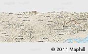 Shaded Relief Panoramic Map of Dinh Lap