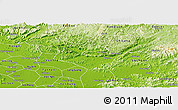Physical Panoramic Map of Huu Lung