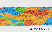 Political Panoramic Map of Huu Lung
