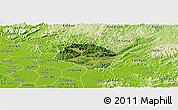 Satellite Panoramic Map of Huu Lung, physical outside