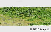 Satellite Panoramic Map of Huu Lung
