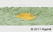 Savanna Style Panoramic Map of Huu Lung
