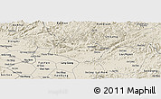 Shaded Relief Panoramic Map of Huu Lung