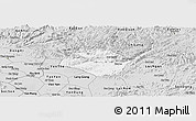 Silver Style Panoramic Map of Huu Lung